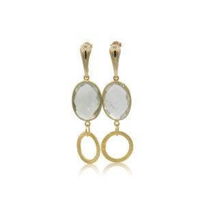 Callysta's Findings - Earrings Prehnite Circles