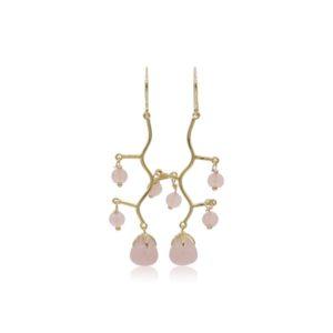 Callysta's Findings - Earrings Rosequartz Branch