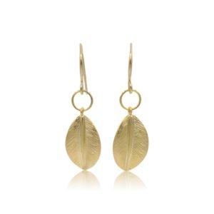 Callysta's Findings - Earrings Round Leaves