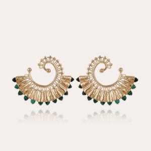Gas Bijoux - Earrings Epique Dark Green