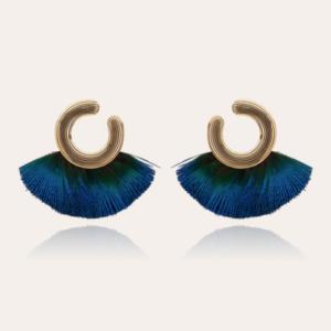 Gas Bijoux - Earrings Positano Peacock Blue