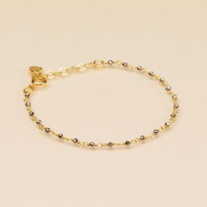 Une a Une - Bracelet Inde Pyrite Black