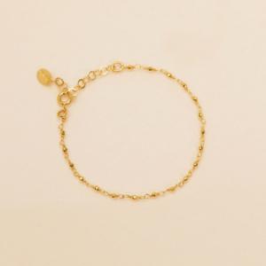 Une a Une - Bracelet Inde Pyrite Gold