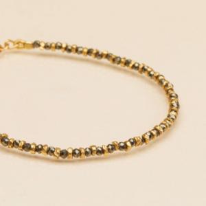 Une a Une - Bracelet Jaipur Pyrite