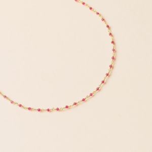 Une a Une - Collier Inde Pink