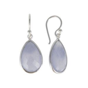 Coby van den Bor - Earrings Blue Lace Agate 615