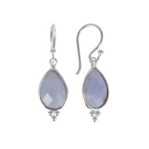 Coby van den Bor - Earrings Blue Lace Agate 885