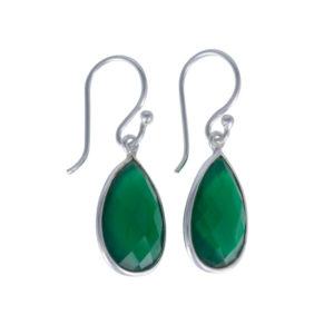 Coby van den Bor - Earrings Green Onyx 615