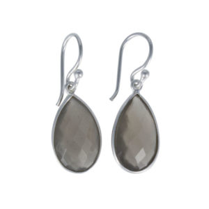 Coby van den Bor - Earrings Grey Moonstone 615