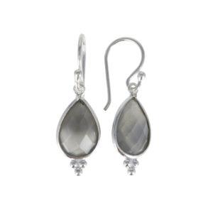 Coby van den Bor - Earrings Grey Moonstone 885