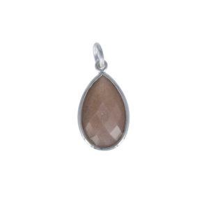 Coby van den Bor - Necklace Pendant Chocolate Moonstone PG09