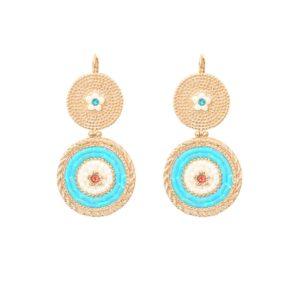 Satellite Paris - Earrings Rivage Blue 2