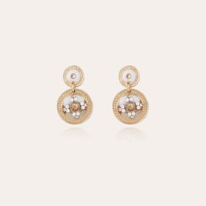 Gas Bijoux - Earrings Sequin White
