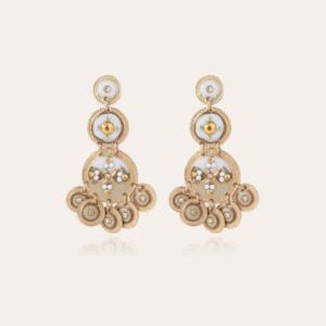 Gas Bijoux - Earrings Sequin White L