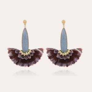 Gas Bijoux - Earrings Serti Paon Blue Lace