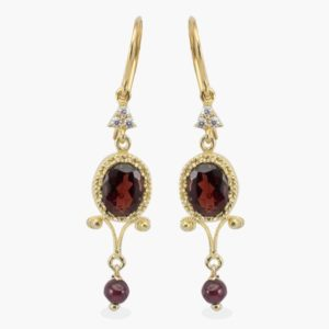 Vintouch - Earrings Garnet Chandelier