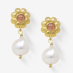 Vintouch - Earrings Mini Flower Pink Tourmaline