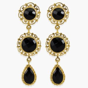 Vintouch - Earrings Taormina Black Onyx