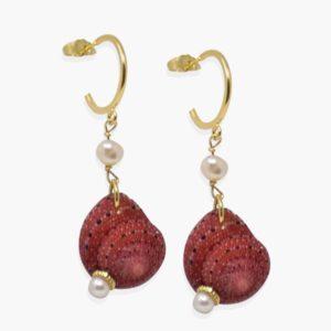 Vintouch - Earrings Zanzibar Shell Hoop