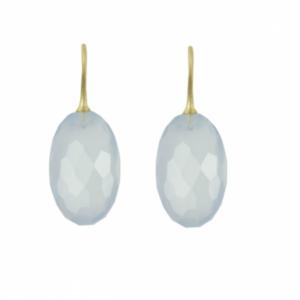 Sputnik Jewelry - Earrings Ice Queen Chalcedony