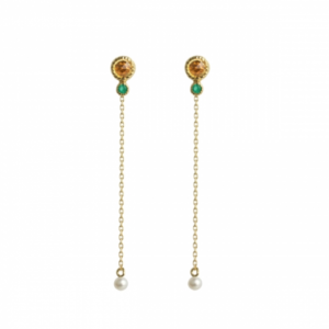 Sputnik Jewelry - Earrings Route 66 Citrine Onyx
