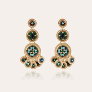 Gas Bijoux - Earrings Sequin Blue Green