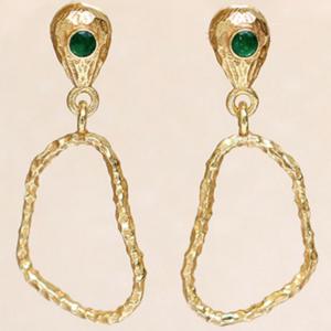 Muja Juma - Earrings 1512GB15 Green Zed