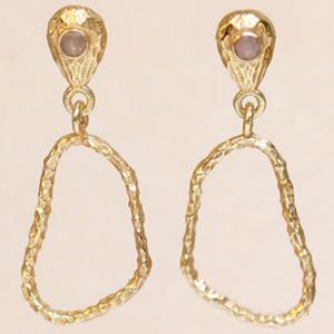 Muja Juma - Earrings 1512GB4 Peach Moonstone