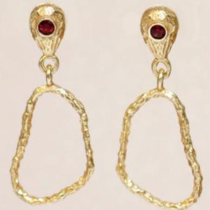Muja Juma - Earrings 1512GB8 Garnet