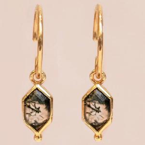Muja Juma - Earrings 1519GB15 Moss Agate