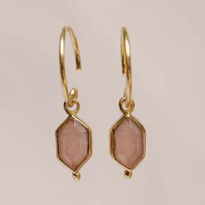 Muja Juma - Earrings 1519GB4 Peach Moonstone