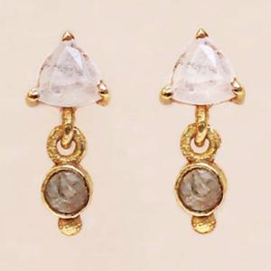 Muja Juma - Earrings 1522GB1 Moonstone