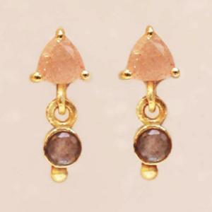 Muja Juma - Earrings 1522GB4 Peach Moonstone