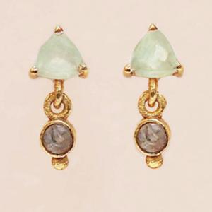 Muja Juma - Earrings 1522GB5 Prehnite