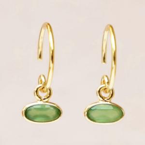 Muja Juma - Earrings 1536GB15 Green Zed