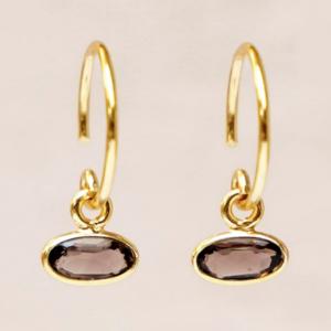 Muja Juma - Earrings 1536GB3 Smokey Quartz