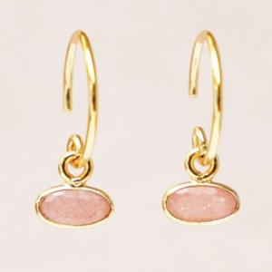 Muja Juma - Earrings 1536GB4 Peach Moonstone