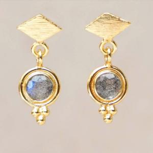 Muja Juma - Earrings 1539GB2 Labradorite