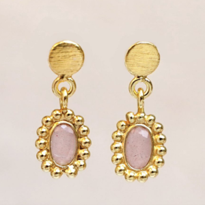 Muja Juma - Earrings 1540GB4 Peach Moonstone