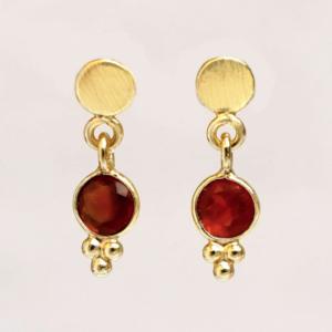 Muja Juma - Earrings 1542GB8 Garnet