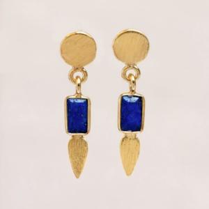 Muja Juma - Earrings 1544GB13 Lapis Lazuli