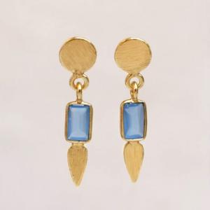Muja Juma - Earrings 1544GB9 Blue Chalcedony