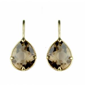 Sputnik Jewelry - Earrings Cleopatra Smokey Topaz