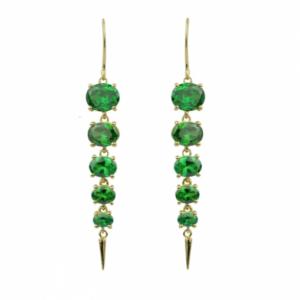 Sputnik Jewelry - Earrings Sunset Emerald Zirconium