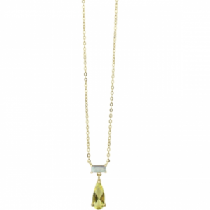 Sputnik Jewelry - Necklace Labradorite Lemon Quartz