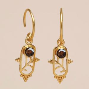 Muja Juma - Earrings 1610GB3 Smokey Topaz