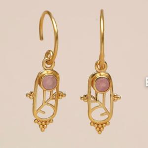Muja Juma - Earrings 1610GB4 Peach Moonstone