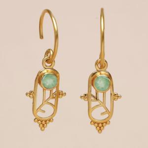 Muja Juma - Earrings 1610GB7 Prehnite