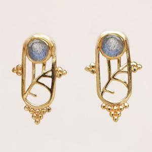 Muja Juma - Earrings 1611GB2 Labradorite