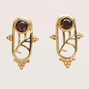 Muja Juma - Earrings 1611GB3 Smokey Topaz